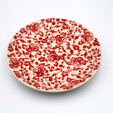 gr 32 red roses hand-decorated ceramic saucer