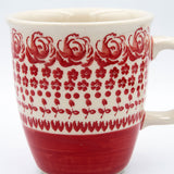 gr 33 red roses pattern on hand decorated coffee tea mug
