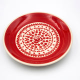 gr 33 red roses ceramic hand-decorated saucer