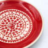 gr 33 red roses ceramic hand decorated saucer close up