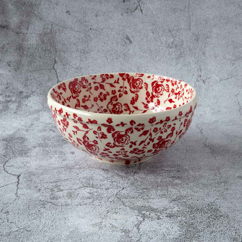 ROSES GZ32 HAND-DECORATED POTTERY BOWL 17 CM X 7 CM