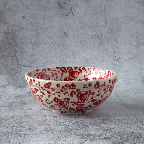 ceramic hand decorated bowl of 14 cm diameter with roses pattern from gz32 collection