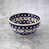 Christmas Set: Hand-Decorated Polish Pottery Bowl Classic Design with Sedno Organic Linden and Honeydew Honey