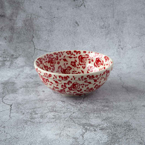 ROSES GZ32 HAND-DECORATED POTTERY BOWL 15 CM X 6 CM