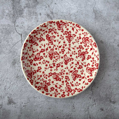 Hand decorated breakfast plate from roses collection gz32 made by Manufactura