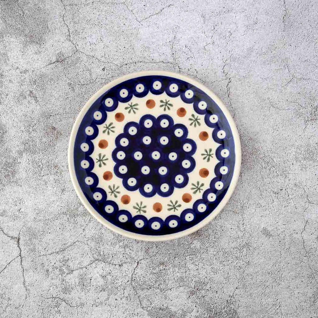 41 HAND-DECORATED DESSERT PLATE - Forkandpillow