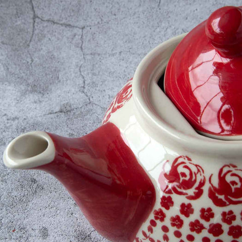 ROSES GZ33 HAND-DECORATED TEAPOT 0.7l - Forkandpillow
