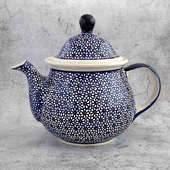 120 HAND-DECORATED TEAPOT FROM POLISH POTTERY