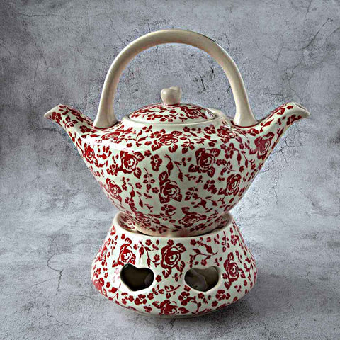 ROSES GZ32 HAND-DECORATED TEAPOT 1L WITH A HEATER