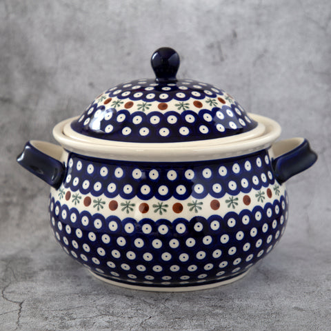 41 HAND-DECORATED SOUP TUREEN
