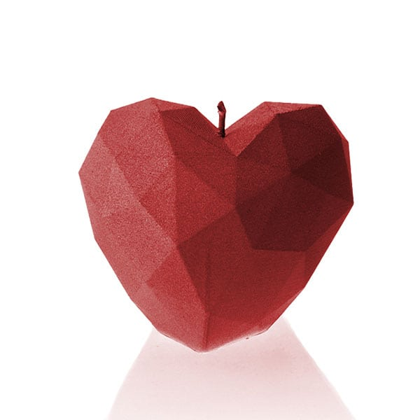 HEART LOW POLY UNSCENTED CANDLE - Forkandpillow