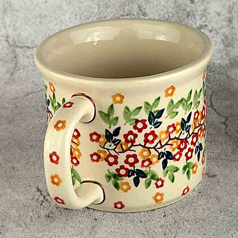 tiny flowers coffee tea mug handle