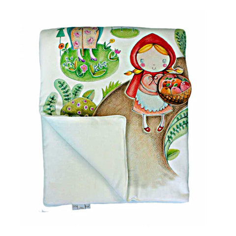LITTLE RED RIDING HOOD DUVET AND PILLOWCASE SIZE 80×100 CM - Forkandpillow