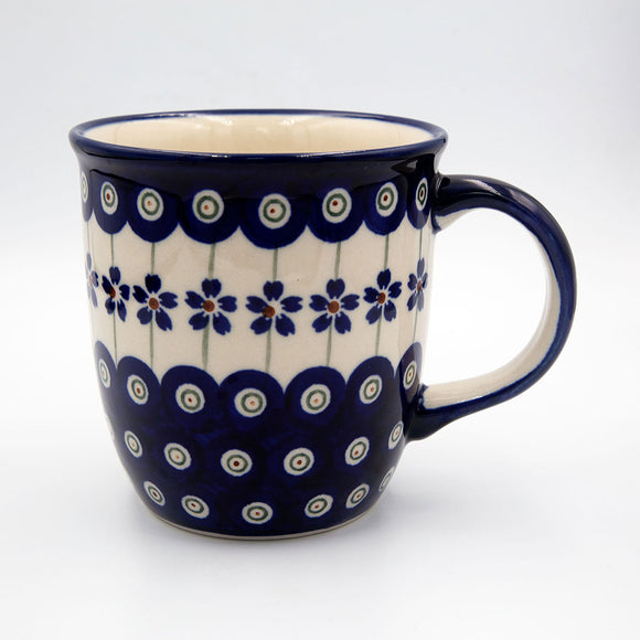 166a floral peacock pattern hand decorated ceramic coffee tea mug