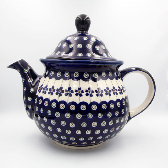 Floral Peacock Hand-Decorated Teapot
