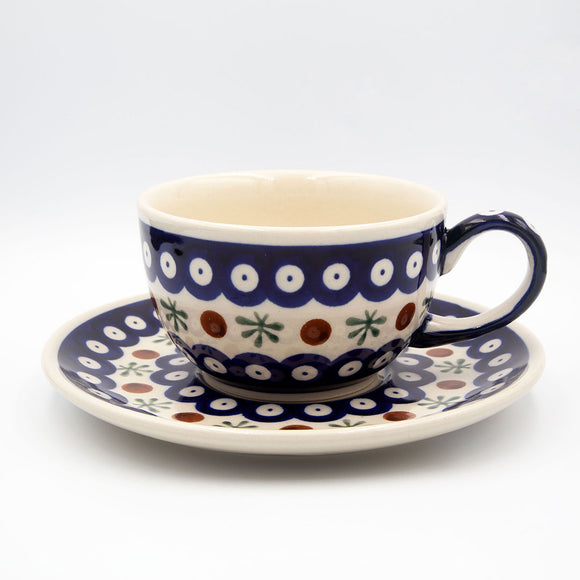 41 mosquito hand-decorated ceramic coffee tea cup with saucer