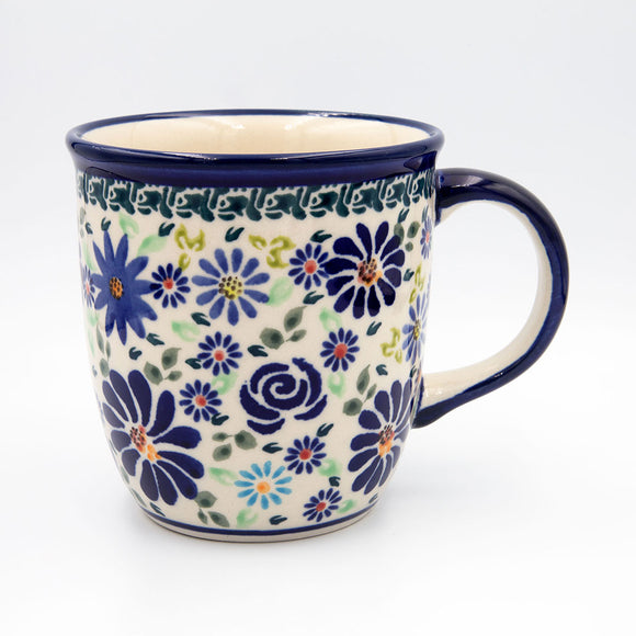 du126 blue summer garden ceramic coffee tea mug