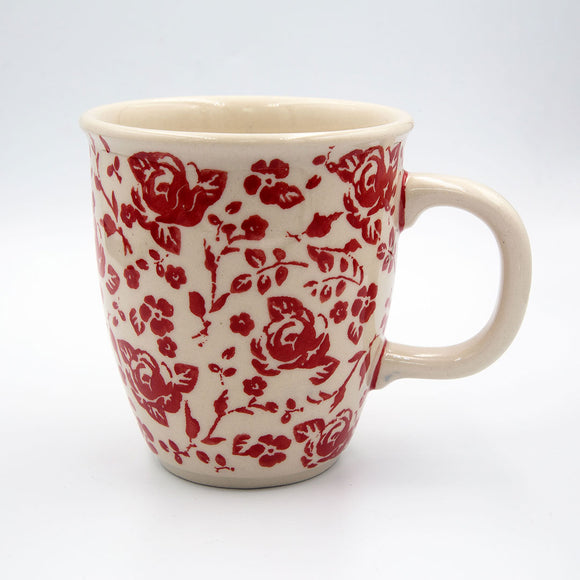 gr32 roses collection hand-decorated coffee tea mug