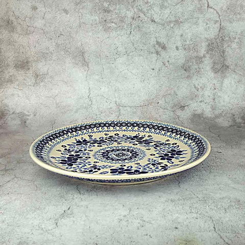BLUE & WHITE SB01 HAND-DECORATED BREAKFAST PLATE 22 CM