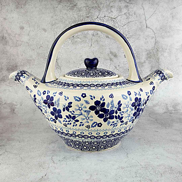 BLUE & WHITE SB01 HAND-DECORATED TEAPOT 1 L