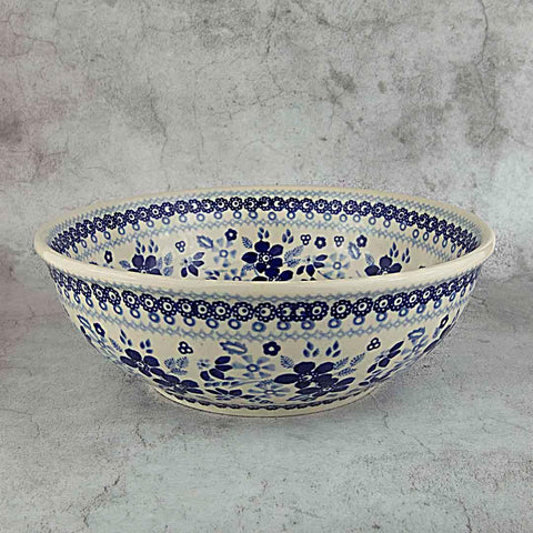 BLUE & WHITE SB01 HAND-DECORATED POTTERY BOWL 22 CM X 7 CM