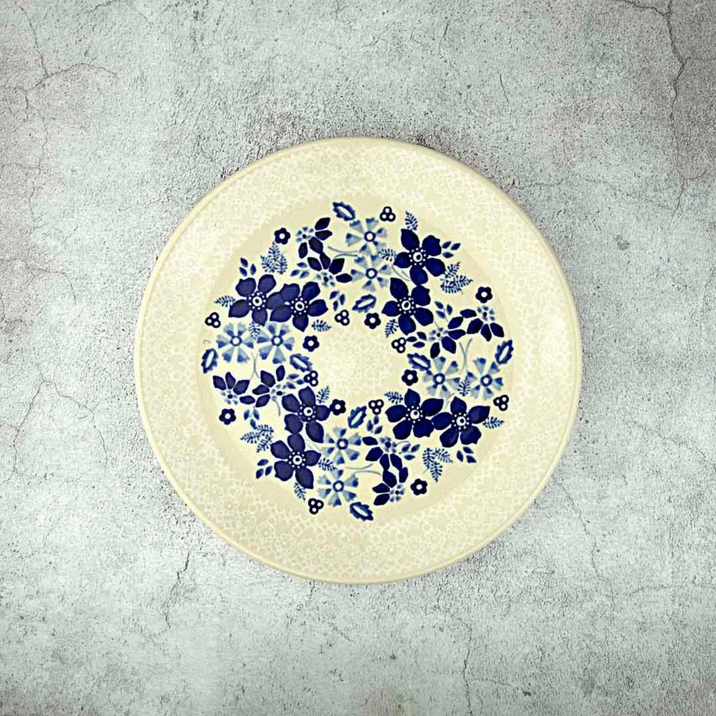 BLUE & WHITE SB07 HAND-DECORATED DESSERT PLATE 18 CM