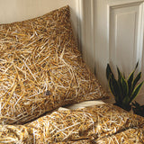 Straw Duvet Cover Set