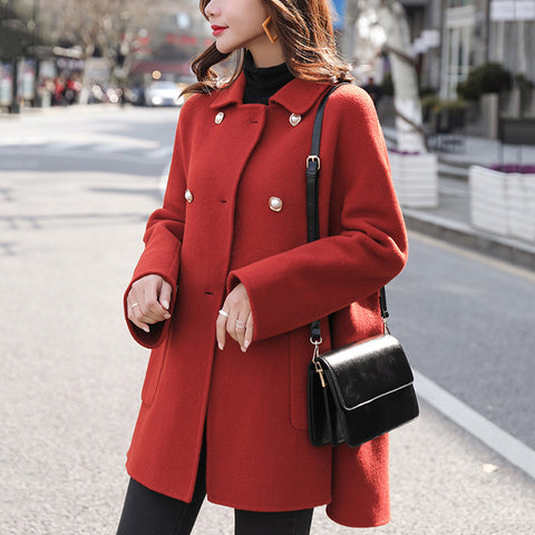 Women's fashion slim lapels coat