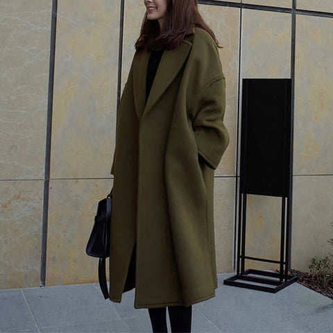 Fashionable loose long coat