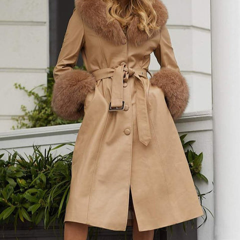 Women's Stylish and elegant loose raw long coat