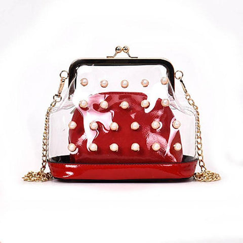 Transparent Pearl Shoulder Bag