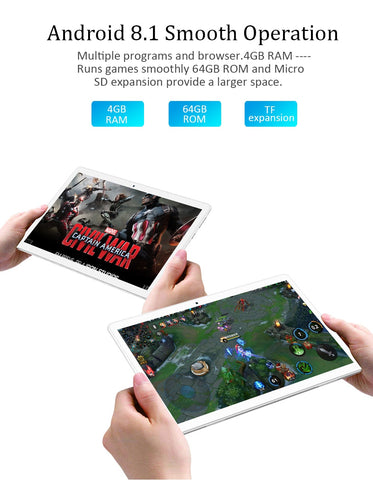 Tablet ANRY 64GB ROM Android 8.1 Deca Core - LXMall