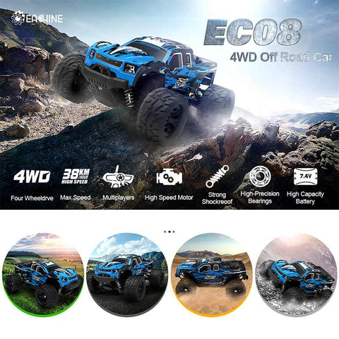 Carro de Controle Remoto - EC08 RC Car 4WD 1/18 2.4GH 38km/h Super Power - LXMall