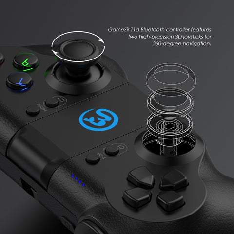 Controlador GameSir T1d Bluetooth para DJI Tello Drone Compatível com iOS iPhone e Android Phone - LXMall