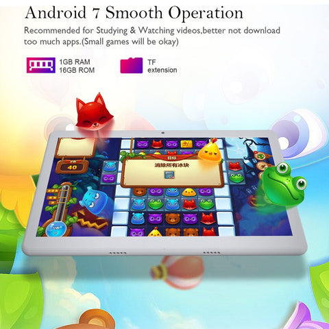 "Tablet ANRY Kids Tablet PC 10""  3G Phone Call Android 7.0  1GB RAM 16GB ROM - LXMall"