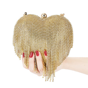 Bolsa Clutch Heart Diamond