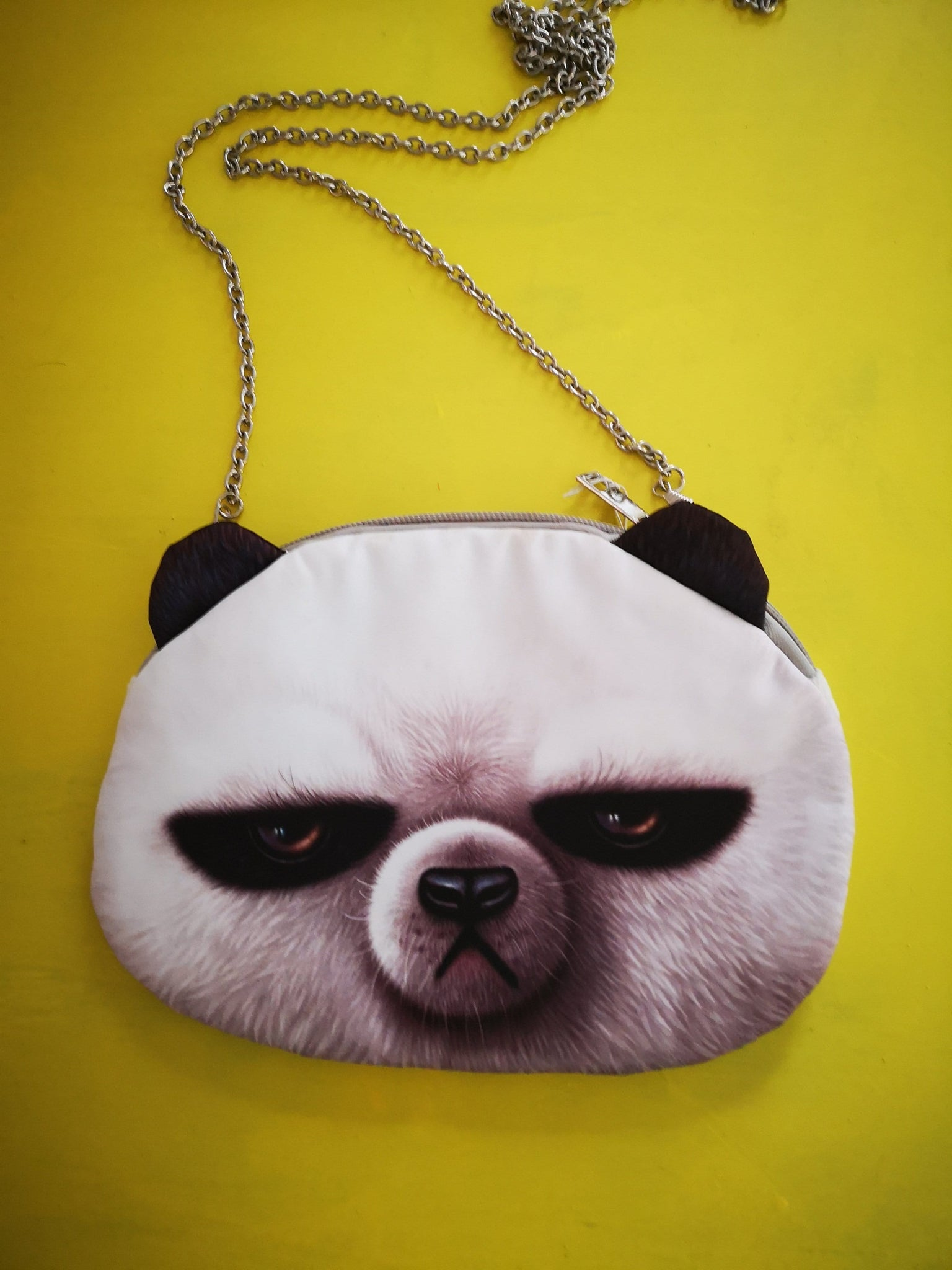 Animal angry bear chain small bag