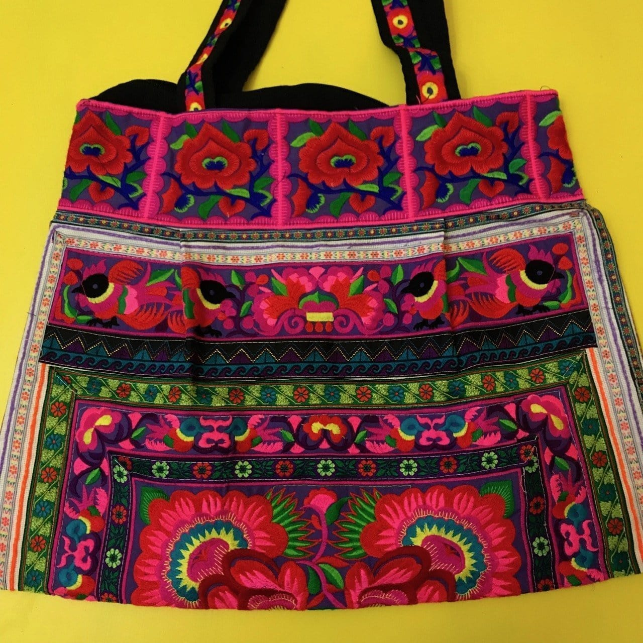Hmong embroidered XL bag
