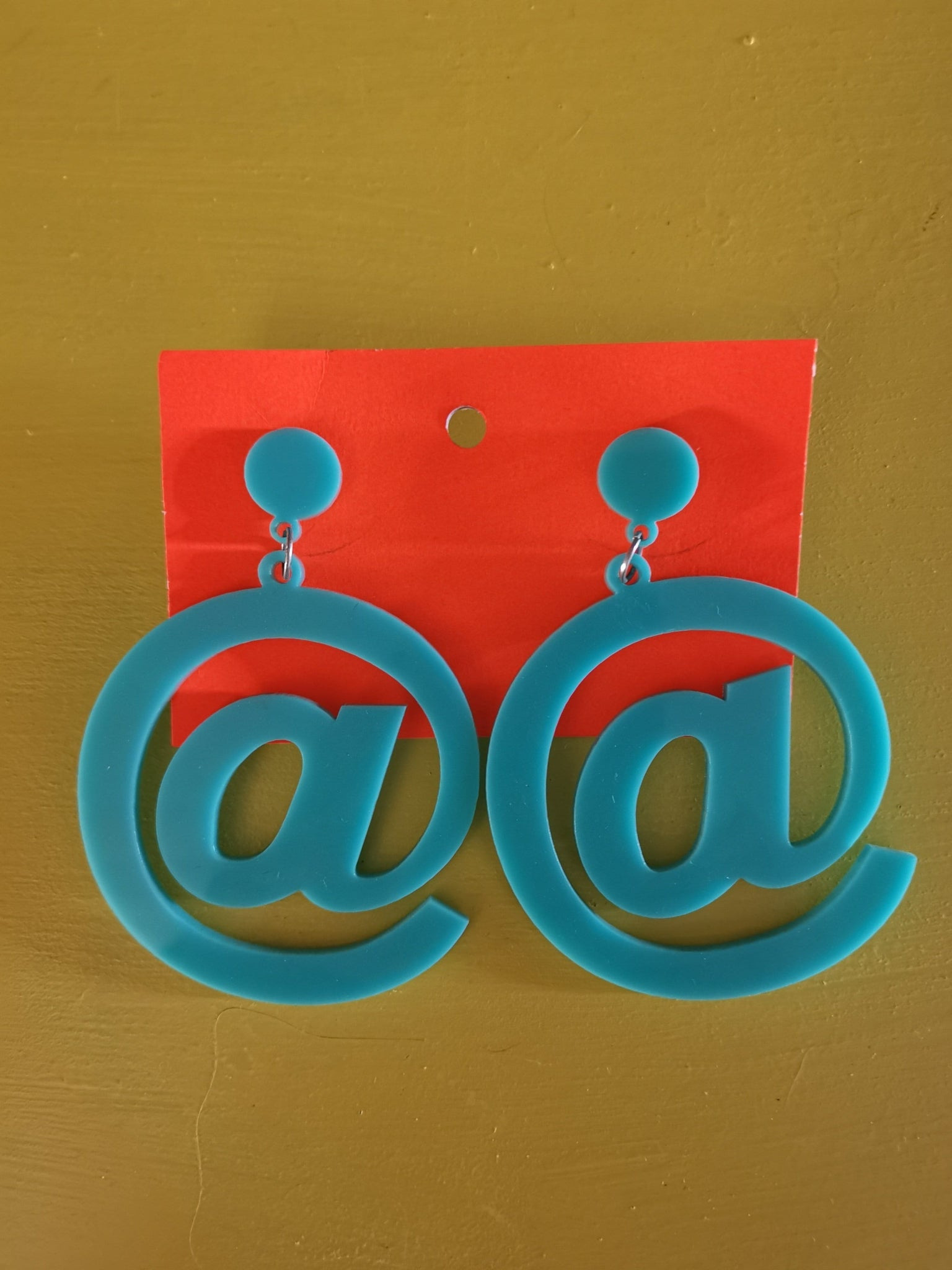 Handmade Perspex earrings