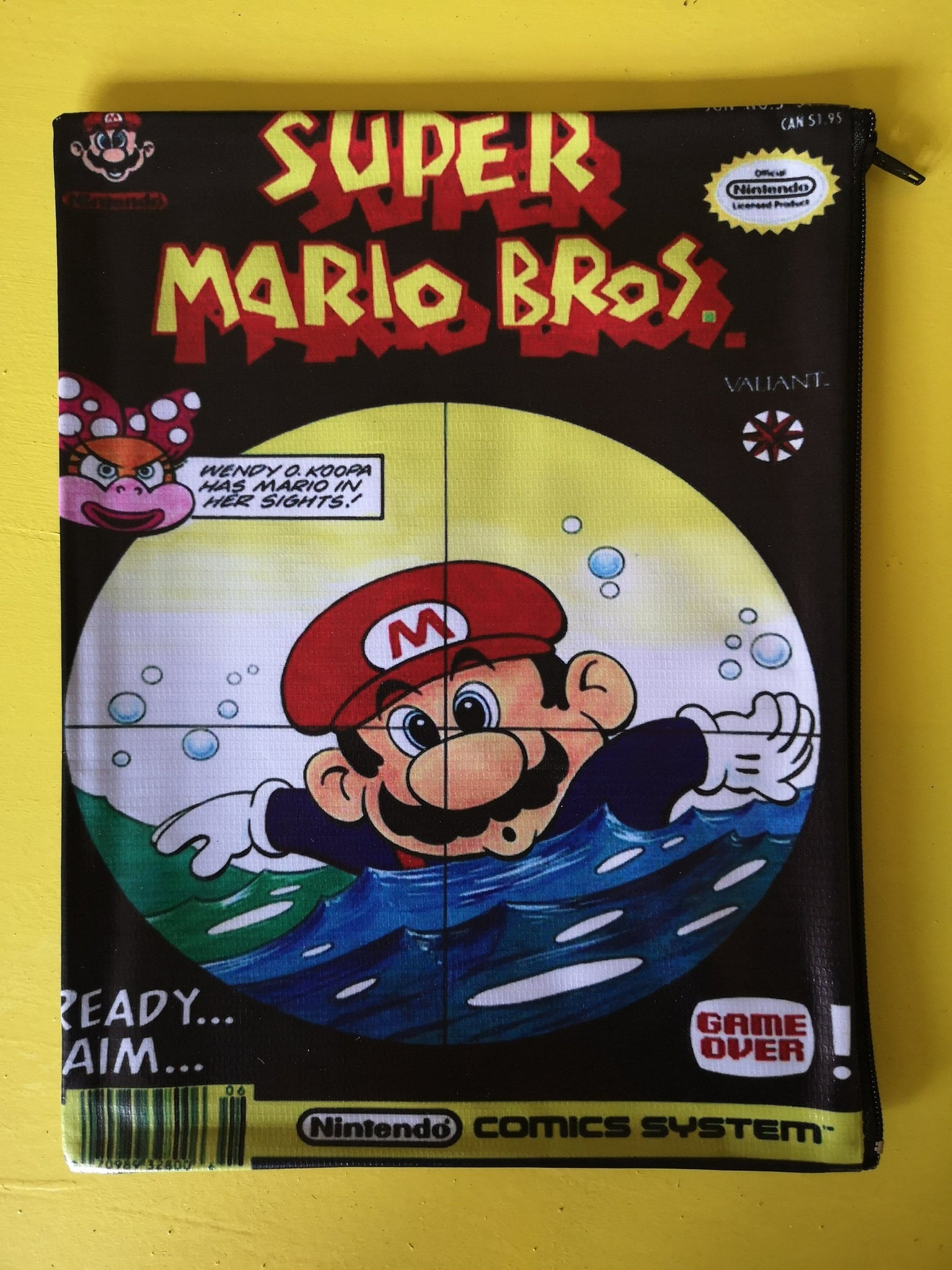 Mario Bros Black cartoon cover clutch