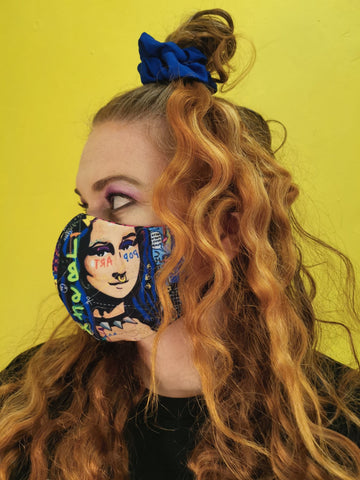 Mona Lisa Dome Mask (reversible)