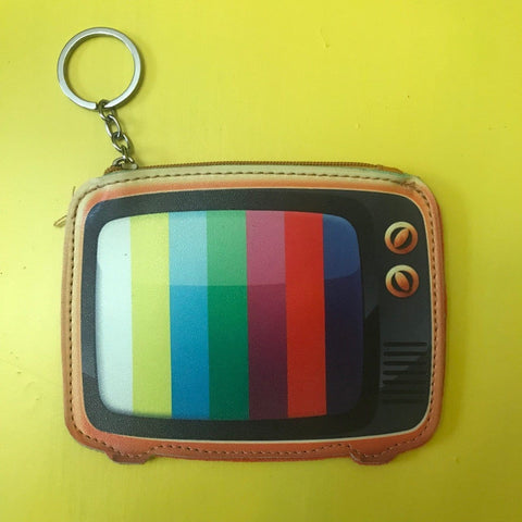 Old TV Keychain