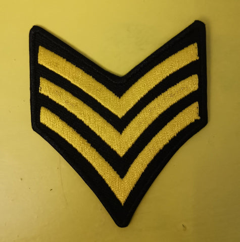 Army stripes 1 Embroidered Iron on Patch