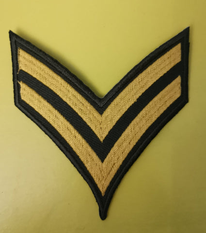 Army stripes 2 Embroidered Iron on Patch