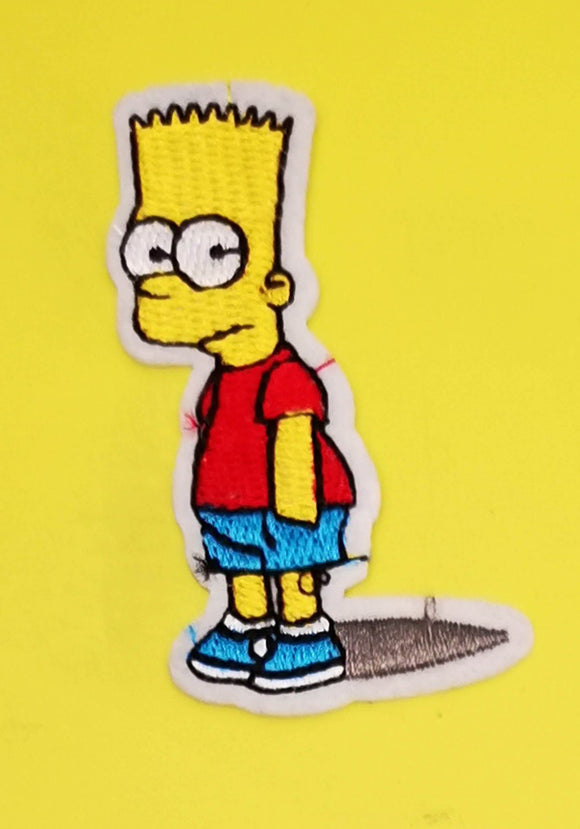 Bart Simpson 2 Embroidered Iron on Patch Patches Kwaitokoeksister