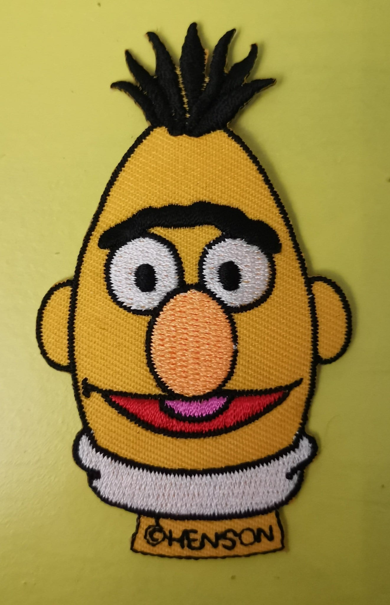Bert Embroidered Iron on Patch