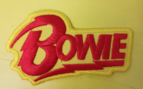 Bowie Yellow Embroidered Iron on Patch
