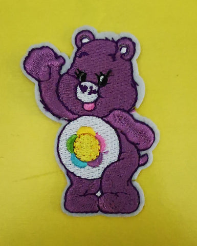 Care bears Purple Embroidered Iron on Patch