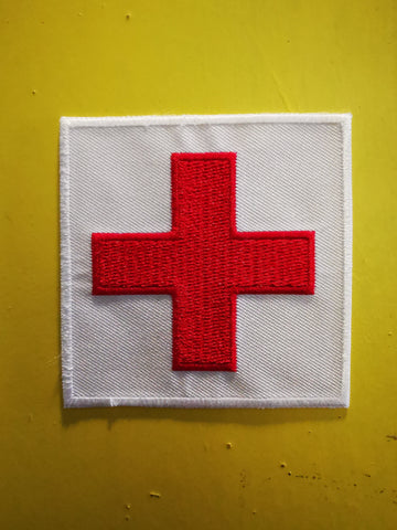 Cross Embroidered Iron on Patch