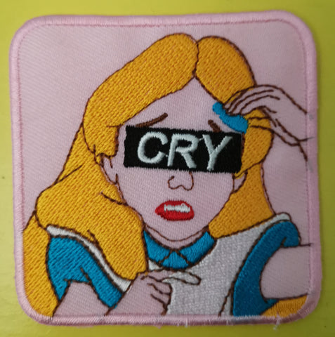 Cry Embroidered Iron on Patch